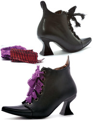 "3"" Heel Witch Shoe - Granny Style with Exchangeable Ribbons - Sizes 6 to 10"