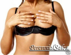 Black Vinyl Shelf Bra - D/DD Cup - Sizes 34 through 44