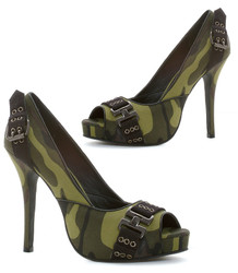 "4"" Open Toe Camo Pump - Sz 5 - 12"