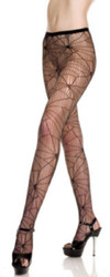 Black Spider Web Net Pantyhose