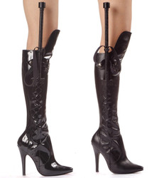 "5"" Stiletto Knee High Boot with Whip - Sizes 6 - 14"