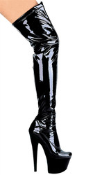 "7"" Stiletto Thigh High Stretch Boots"