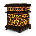 ALUMINUM FLORAL BROWN OIL BURNER
