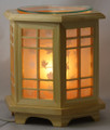 WOOD TAN WITH LEAVES ELECTRIC OIL BURNER ET