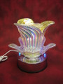 THIS IS A BEAUTIFUL GLASS PEARL MULTI COLORED 3 WAY TOUCH OIL LAMP.