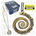 Doctor Who Wibbly Wobbly Vortex Gold Pendant Necklace - Entertainment Earth Exclusive