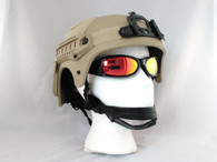 IBH Airsoft Helmet with Rails/NVG Mount Tan