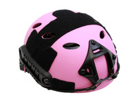 PJ Style Airsoft Tactical Helmet with Rails/NVG Mount in Pink