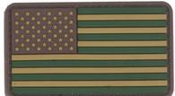 "US Flag OD 3 1/4"" x 2"" Velcro Backed PVC Patch"
