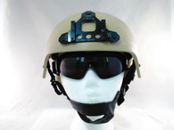 IBH Airsoft Helmet with NVG Mount in Tan