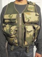 Tactical Combat Utility Vest Woodland Camo