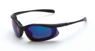 CROSSFIRE CONCEPT eye protection blue mirror lens, matte black
