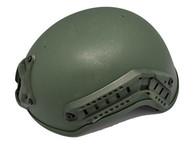 Mich 2001 Helmet w/Side Rail & NVG Mount OD