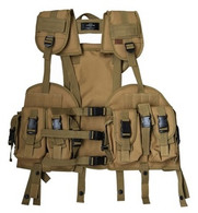 Tactical Vest w/removable Hydration Pouch in Tan