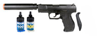 P99 Airsoft spring pistol with silencer