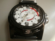Military Style White Dial Black Rubber Strap Sports Watch