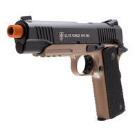 ELITE FORCE 1911 TAC Co2 Gas BlowBack Airsoft pistol in Dark Earth/Black