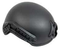 Mich 2001 Helmet w/Side Rail & NVG Mount in Black