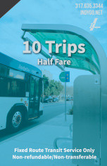 10 Trips - Half Fare
