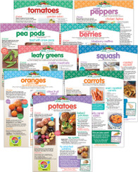Set of Fruit and Vegetable Recipe Sheets