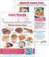 CS841 - Iron Foods Clinic Sheet (1 pad of 50 sheets)