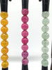 brush and stand, beads, set of 7
