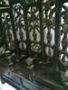 altar, antique, floral open back