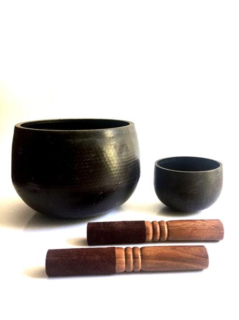 singing bowl, set of 2, japanese