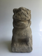 ANTIQUE MARBLE FOO DOG #2