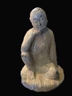 ANTIQUE STONE CONTEMPLATIVE BUDDHA