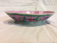 ANTIQUE CHINESE PORCELAIN BOWL PINK PEONY