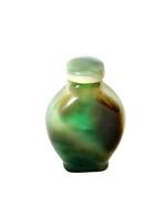 Green Carnelian Agate Snuff Bottle