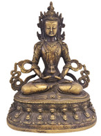 ANTIQUE BRONZE TIBETAN TARA