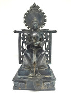 ANTIQUE BRONZE BURMESE BUDDHA