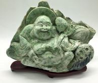 GREEN JADE HAPPY BUDDHA 13LB