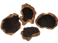SET OF 4 SOLID EBONY STANDS