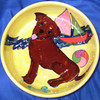 Chocolate Kiss Laborador Hand-Painted Dog Bowl
