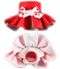 Diaper Skirt in Red Cherries