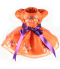 Maple Leaf Hand-Painted Harness Dress in Orange