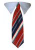 Blue & Red Stripes Tie Collar