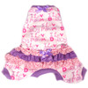 Ruffled Tank Pajamas in Love Mommy/Daddy Purple