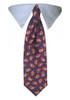 Blue Paisley Tie Collar