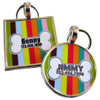 Carnival Stripes Bone Pet ID Tag