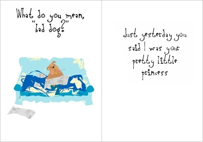 What do you mean bad dog greeting card paws on palm beach what do you mean bad dog greeting card m4hsunfo