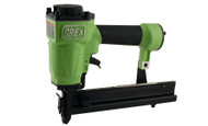 "Offering the widest fastener length range, the Grex 9040 has the power to drive 1-9/16"" narrow crown staples into hardwoods. Ideal for case and cabinet construction requiring various fatener lengths. The flexibility of this tool also includes a quick release nose cover to remove jams and an adjustable depth of drive dial to set fasteners flush with the workpiece. Suggested Applications: Case construction, Corners and blocks, Heavy cabinet work, Hardwood shelving fixtures, Installation of light trim moldings and pre-finished paneling, Plywood assembly, Underlayment, Sub flooring, Crate and pallet construction, Fencing, Lattice"