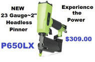 "GREX Headless Pinner/ 23 Gauge 2"" ~ Model P650LX"