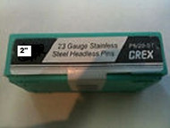 "GREX 23 Gauge Headless Pins / Stainless Steel / 2"" ~ 5/m  Pac"