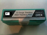 "GREX 23 Gauge Headless Pins / Stainless Steel / 1"" ~ 5/m  Pac"