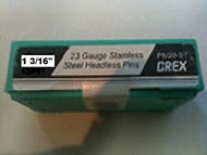 "GREX 23 Gauge Headless Pins / Stainless Steel / 1 3/16"" ~ 5/m  Pac"