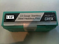 "GREX 23 Gauge Headless Pins / Stainless Steel / 1 1/2"" ~ 5/m  Pac"